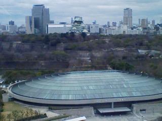 大阪城と城ホール