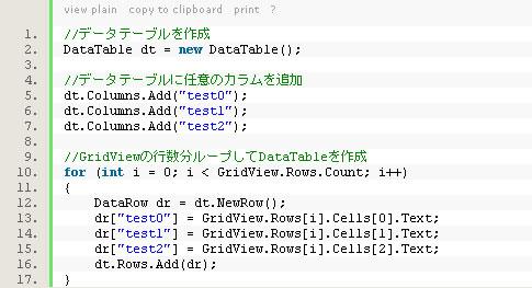 新しい表示のソースコード