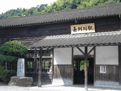 106歳の嘉例川の駅舎