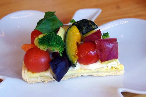 野菜のタルト