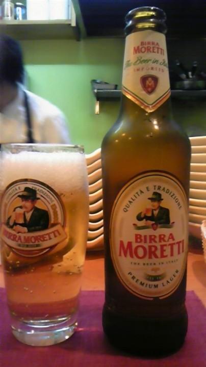 イタリアビールMORETTI