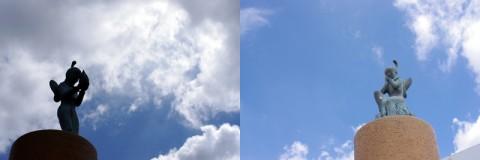 空がとても綺麗だったので