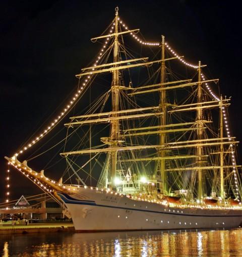 世界最大級の帆船「日本丸」を撮ったど~